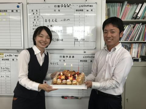 山岡係長お誕生日②170628