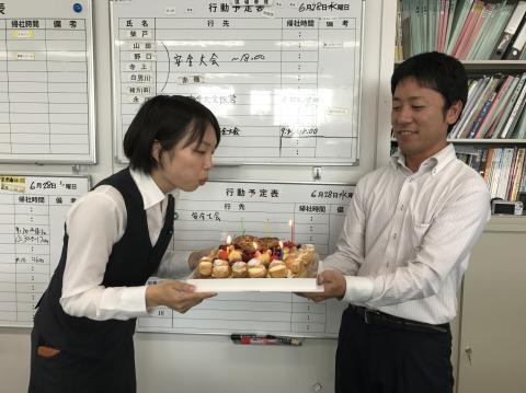 山岡係長お誕生日⑤170628