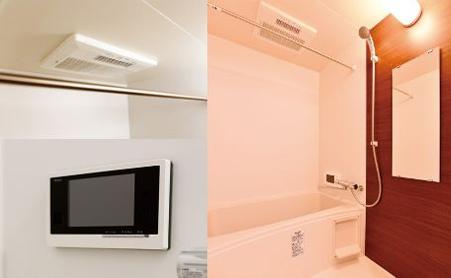 1日の疲れを癒すバスルームは入居者目線の設備が充実